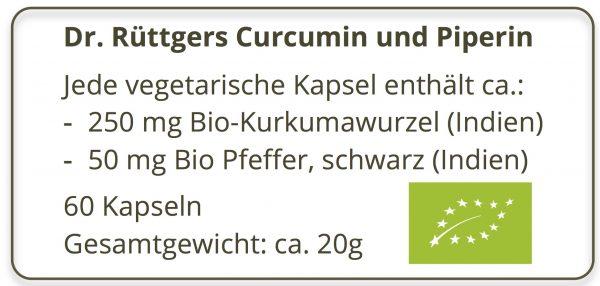 Curcumin & Piperin 60 Stk. Labeling